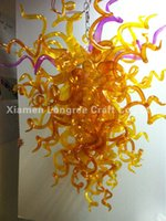 art glass suppliers - C04 v v China Supplier Home Interior Led Light Hand Blown Colored Glass Chandelier With LED Bulbs
