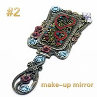 Wholesale Euro Makeup Mirror Business Advertising Small Cosmetic Mirror Makeup Tool Zinc Alloy Material Upscale Atmosphere Fashion