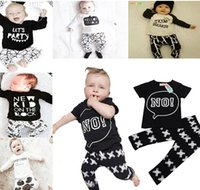 Cheap 20 Color Kids Ins Suits T Shirts+Pants Baby Ins Tops+Trousers Summer Ins Outfits Fashion Shirts+Harem Pants Ins Baby Clothing Romper A880 10