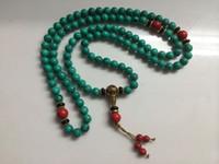 Wholesale China tibet Turquoise MM Buddhist Prayer Bead Mala Necklace Bracelet Beads
