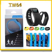 Wholesale FITBIT TW64 Bluetooth Smartband fit bit wrist activity sleep wristband Smart Bracelet For IOS Android iPhone plus Smart Band