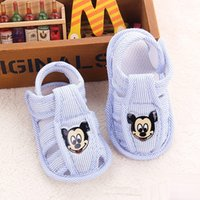 Wholesale 2016 summer child shoes baby infant striped cloth sandals hollow out shoes