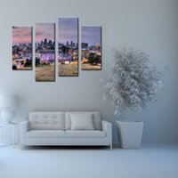 art kansas city - 4 Picture Combination Buildings Of Kansas City With Wide Square Wall Art Painting Pictures Print On Canvas Paintings City Home Decoration