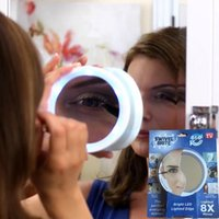 Wholesale Swivel Brite LED X magnification mirror Swivel Action The bathroom cosmetic mirror hot sell LJJH1435