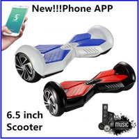 Wholesale Super Power Phone APP Scooter Electric Balance Wheel Bluetooth Music Player Hoverboard Smart Balancing Scooter quot Two Wheels Dropshipping