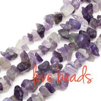 amethyst chip beads - 5mm mm Irregular Natural Purple Amethyst Chips Beads Stone Loose Beads Strand CM Diy Bracelet F00375