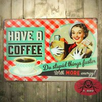 art item cottons - HAVE A COFFEE Metal Plaque Poster Vintage Bar Craft Decor Wall art Signs CM Mix Items F