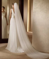 Wholesale High Quality Ivory White Three Meters Long Two Layers Tulle Wedding Accessories Bridal Veils With Comb