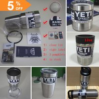 Wholesale Yeti Cups Clear Lid oz oz oz oz oz SS colored Yeti Rambler Tumbler For Travel Vehicle Yeti Coolers Double Wall Bilayer