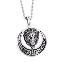 amazing casting - New Casting Silver Amazing Quality Men s L Stainless Steel Lion Head Pendant Circle With mm quot Twisted Rope Chain Necklace