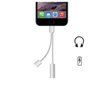 Wholesale Cell Phone Adapters for Iphone headphone adapter Cable3 mm AUX Audio Female Adapter for iphone Charger And Audio Extender in