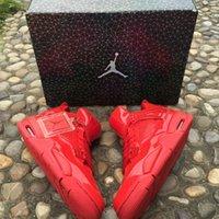 Wholesale Air Jordan Lab4 DS University Red Blcak Patent Leather Jordans IV Original Quality Sneakers Size US8