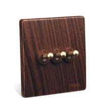 Wholesale 10A wall switch Fashion British Style light switch V V DIY toggle switch UK standard gang way way