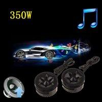Wholesale 2pcs Universal High Efficiency x350W Car Mini Dome Tweeter Loud Speaker Audio Auto Sound Klaxon Music Stereo YA154 SZ