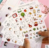 Wholesale Novelty Molang Cartoon Decorative Stickers Mobile Phone Stickers Stationery DIY Album Stickers FOD
