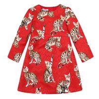 american girl cat costume - Girls Dress kids Costume Fashion Cat Printing New Children Clothing With Long Sleeve Fashion Girl Dress
