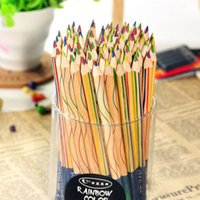 Wholesale 10 Rainbow Color Pencil in Colored Pencils Drawing Stationery Professional Pencils Writing SuppliesSupplies