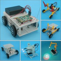 Wholesale Kids gifts Six pieces of DIY toy assembly kit like bionic robot fish and Belt speed down car so on