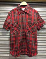 Wholesale urban clothing fear of god plaid shirt men hip hop shirt side zipper red plaid shirt kanye west mens streetwear swag cohtes