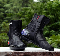 Wholesale New Motorcycle short Boots Pro biker SPEED Moto Racing Motocross Motorbike Shoes Black White Red size
