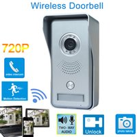 Wholesale WIFI Remote Video Doorbell Home Security Camera Monitor Intercom System With Alarm And Motion Detecting Infrared Night Vision Functions IP02