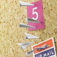 Wholesale 6pcs Office Flying Pushing Thumb tack Drawing Pin Student Paper Airplane Pushpin Fold Times Sake Push Pin Set