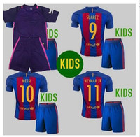 away kits - New Best Quality BARCELONAIZERS kids kits Soccer jersey MESSI NEYMAR JR SUAREZ PIQUE HOME AWAY Custom shirt
