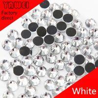 Wholesale 1440pcs crystal glass Rhinestone flatback rhinestones silver foiled fashion hotfix stones