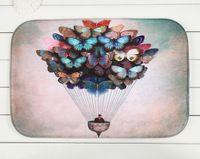 Wholesale 40 cm Butterfly Fire Balloon Bath Mats Anti Slip Rugs Coral Fleece Carpet For Bathroom Bedroom Doormat Online