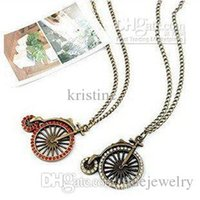 bicycle chain price - New arrival fashion jewelry for men and women unisex wheel bicycle bike necklace vintage style price