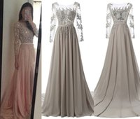 beautiful photo - Beautiful A Line Long Sleeve Prom Dresses New Arrive vintage Beading Crystal Backless Floor Length Party Bridesmaid Evening Gowns