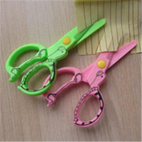Wholesale 12Pcs Plastic stationery safety scissor Kids DIY creative handcrafts making tool