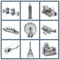 Wholesale Best Price Miniature D Metal Model Puzzle Building Kits Ship Castle Bridge Fighter D Jigsaw Puzzle Educational Toys for Gift