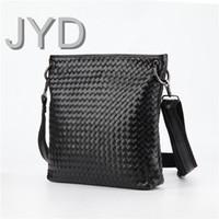 Wholesale The braiding bag man satchel business vertical money bag composite sheepskin men s bags