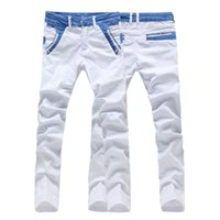 Wholesale new arrival man casual denim pants leisure straight white biker jeans trousers size CK16