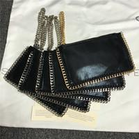 Cheap 2016 famous brand high quality pvc designer handbag mini chains clutch purse bag with logo coin pocket