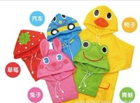 Wholesale 65 cm Baby Childrens Rain Coat Boys Girls Baby Childrens Clothing Rain Gear Cute Cartoon Rain Gear Colors