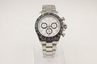 Precio de Esfera blanca para hombre de los relojes automáticos-Nuevo reloj de lujo de lujo blanco watch116518 mens mecánico automático de los hombres reloj de relojes deportivos