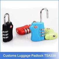 mini padlock - 50PCS TSA338 Mini Digit Metal Zinc Alloy Lock Password Portable Resettable Combination Suitcase Padlock Luggage Protector
