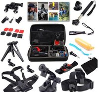 band cam - Gopro Accessories set for Action Cam Accessories Travel kit Head Chest Belt Wrist Band Bobber Floating For hero3 Sj4000 sjcam xiaomi