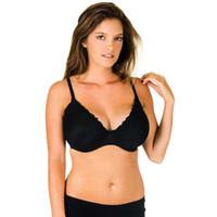 Precio de Bra dd-2016 Mujer Bra Negro Color Spandex Net tela cómoda Push Up Mujer ropa interior para grandes mujeres Copa 30-46 DD / DDD / E / F 3/4 taza 7608