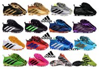 Wholesale Adidas Ace Pure Control FG European ship UEFA Euro Men Soccer Shoes Boots Slip On Cheap Original Cleats Football Sneakers