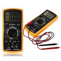 Wholesale EXCEL DT9205A Digital Multimeter LCD AC DC Automatic Range Power OFF Multimeter Ammeter Ohmmeter Resistance Capacitance Meter