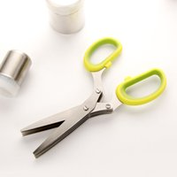 Wholesale Kitchen Multifunction Green Onion Cut Scissors Kitchen Tool Slicers Knives Shredders