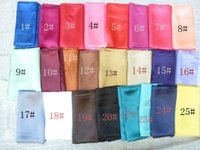silk scarves - Solid Square Scarf Cm Plain Women Wear Spring and Autumn Summer Multicolor New