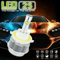 aluminum beam design - 1 Set GEN S LED CREE ETI Flip Chips V waterproof fanless design Headlight W LM Aluminum H13 Fog bulb dual Beam Kit auto accessories