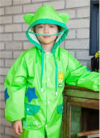 Wholesale Cute New Kids Children Raincoats Boys Girls Cartoon Animal Raincoat Rainwear Child Rainsuit Waterproof Rain Coat Colors