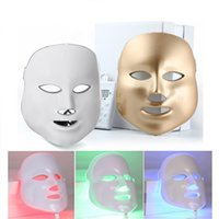 Wholesale White or Gold Colors PDT Photon LED Facial Mask Skin Rejuvenation Wrinkle Removal Electric Anti Aging LED Mask For Beauty machine