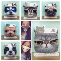 Wholesale LJJL240 Creative Cartoon Vivid D Cats Dog Tiger Face Mask Anti dust Windproof Mouth Mask Cotton Mouth muffle