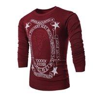 al por mayor alta gama de moda para hombre al por mayor-Al por mayor-Invierno 2016 nuevas letras de personalidad marea caballero impresión de la marca de moda de alta gama de suéteres para hombre casuales de los hombres